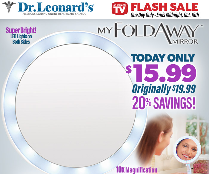 As Seen On TV One Day Only Flash Sale - My FoldAway Mirror