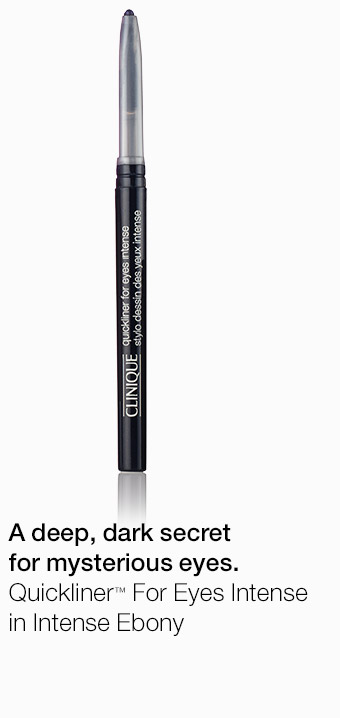 A deep, dark secret for mysterious eyes. Quickliner(TM) For Eyes Intense in Intense Ebony
