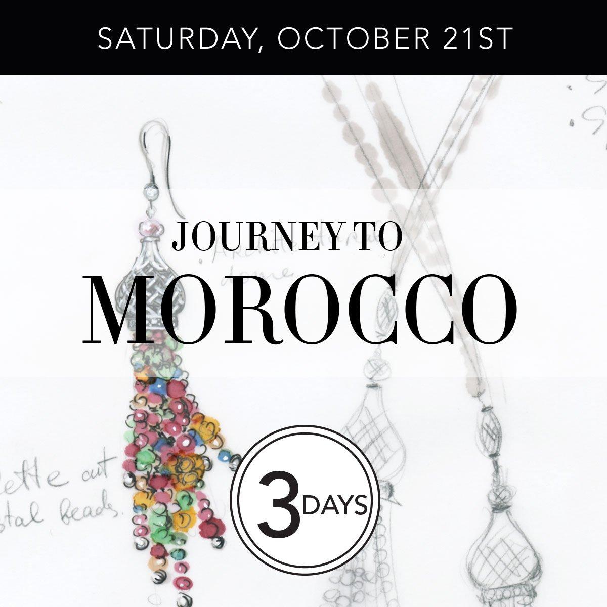 Saturday, October Twenty First - Journey to Morocco - Three Days