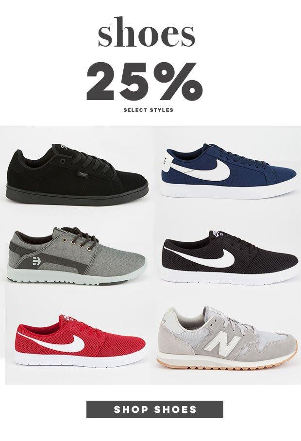 Shoes - 25% Off - Shop Now