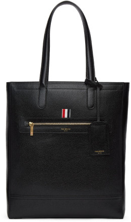 Thom Browne - Black Leather Tote