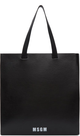 MSGM - Black Large Logo Tote
