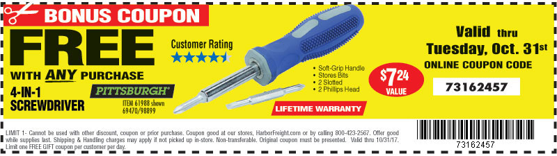 Harbor Freight: ATTENTION: YOUR BONUS COUPONS ARE HERE | Milled