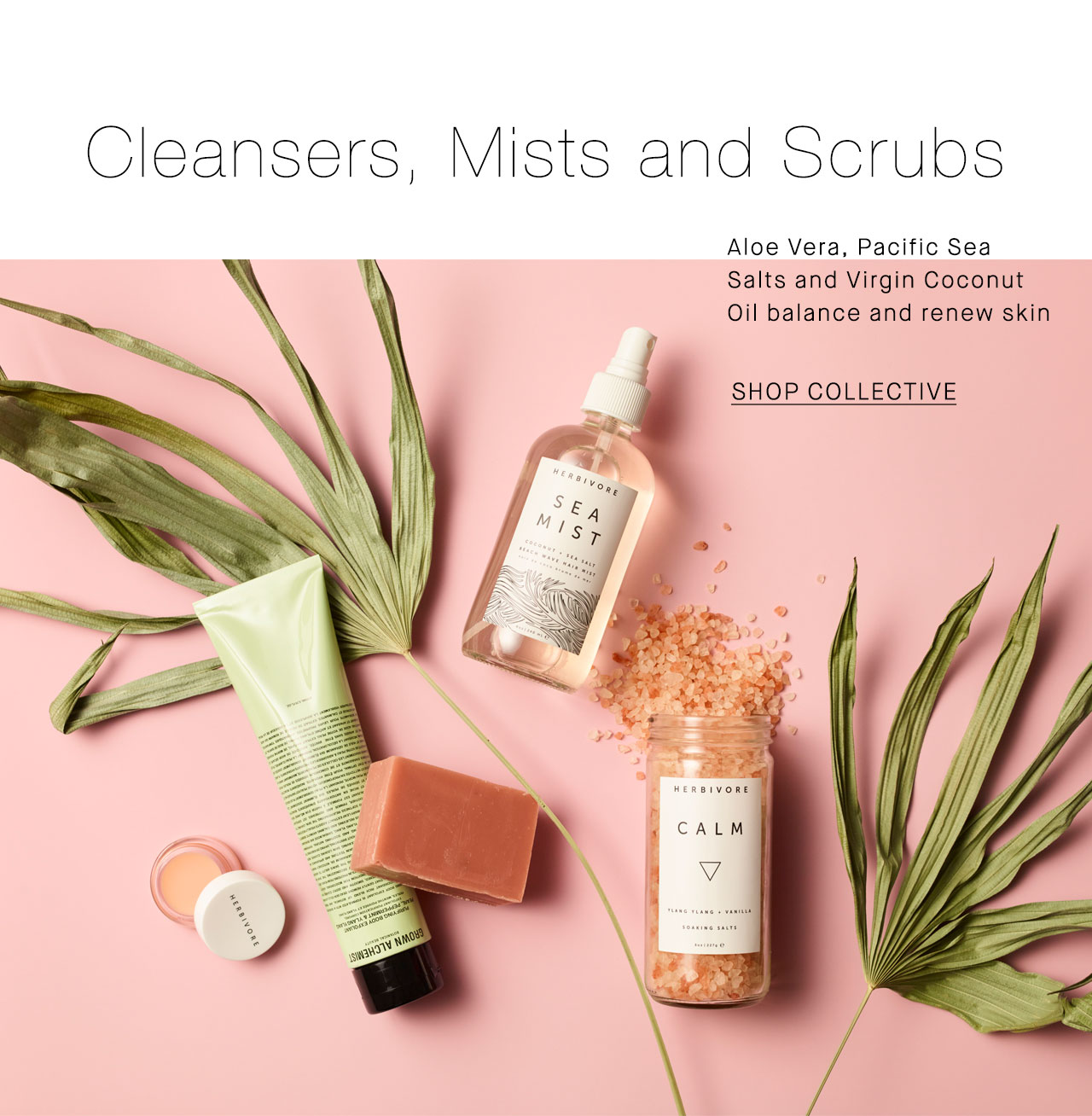 Cleansers, Mists and Scrubs