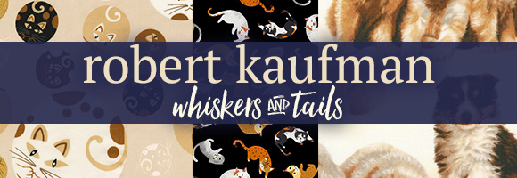 Robert Kaufman Whiskers and Tails