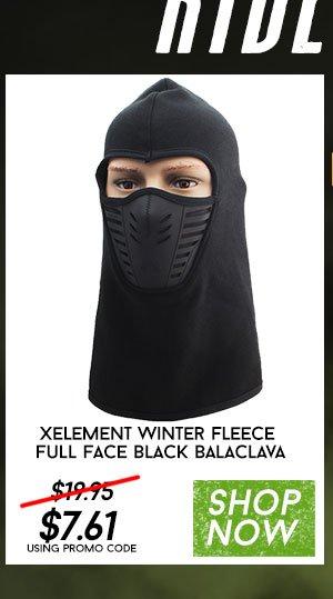 Xelement Winter Fleece Full Face Black Balaclava
