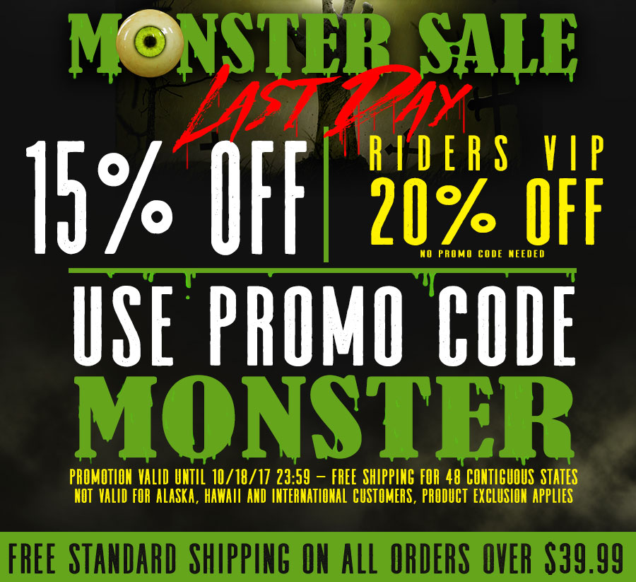 Shop Monster Sale and Save 15% OFF and FREE SHIPPING on orders over $39.95
