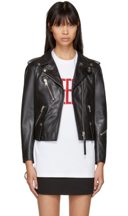 Alyx - Black Leather Biker Jacket