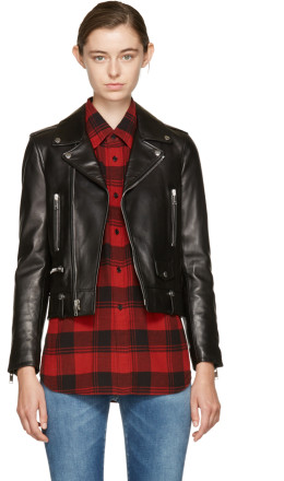 Saint Laurent - Black Leather Classic Motorcycle Jacket