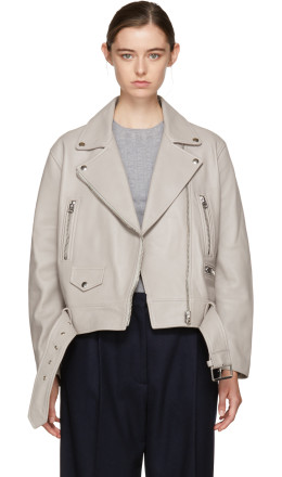 Acne Studios - Grey Leather Merlyn Jacket