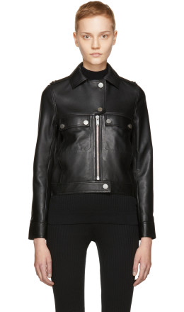 Courrèges - Black Leather Biker Jacket