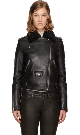 Mackage - Black Leather Baya-DL Jacket