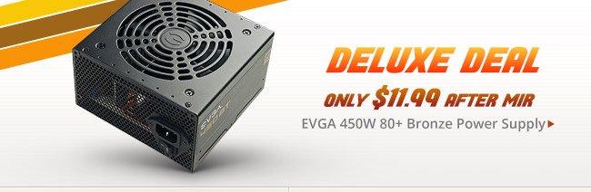Deluxe Deal - EVGA 450W 80+ Bronze Power Supply