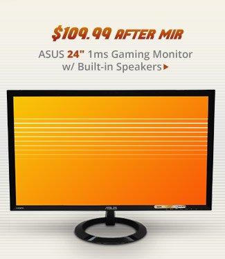 "ASUS 24"" 1ms Gaming Monitor w/ Built-in Speakers"