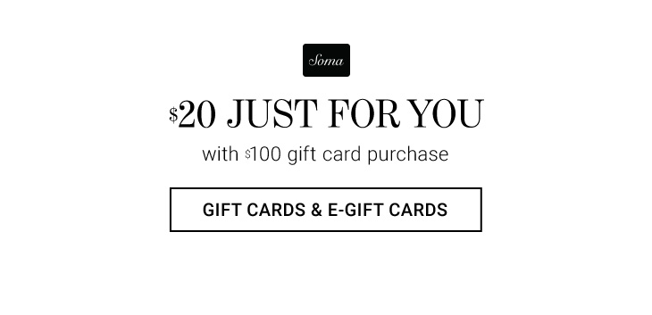 $20 Just for You with $100 Gift Card Purchase. Shop Gift Cards & E-Gift Cards.