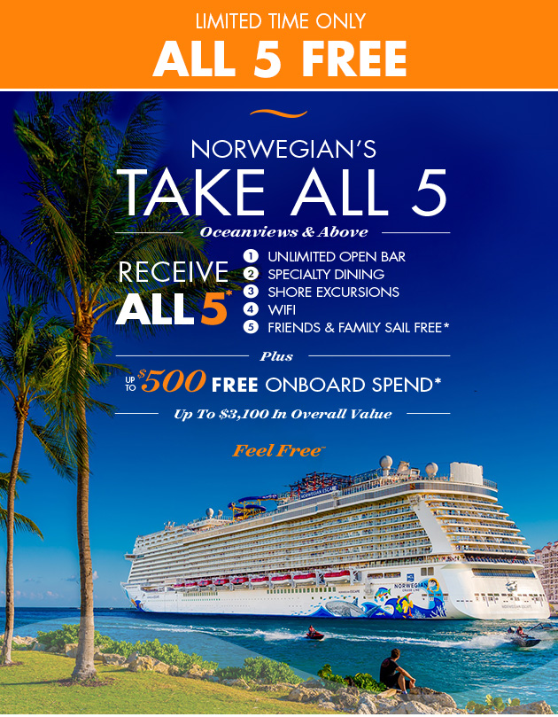 Norwegian Cruise Line Our Gift To You All Free Offers Milled - Cruise ship wifi free