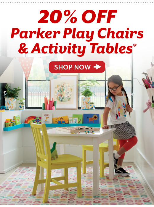 Shop 20% Off Parker Play Chairs and Activity Tables