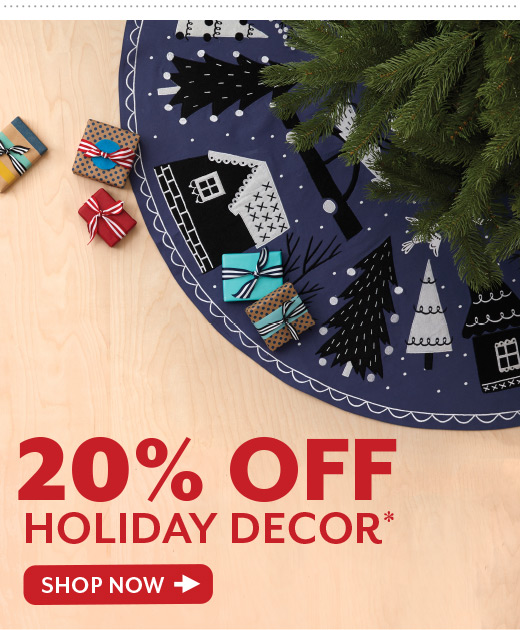 Shop 20% Off Holiday Decor