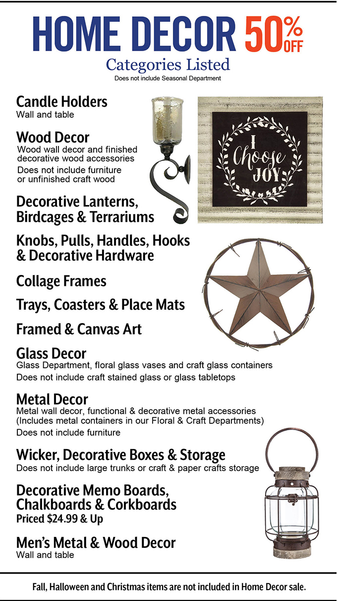 Hobby Lobby: On Sale Now Metal Decor ⚓ See Our Weekly Ad | Milled
