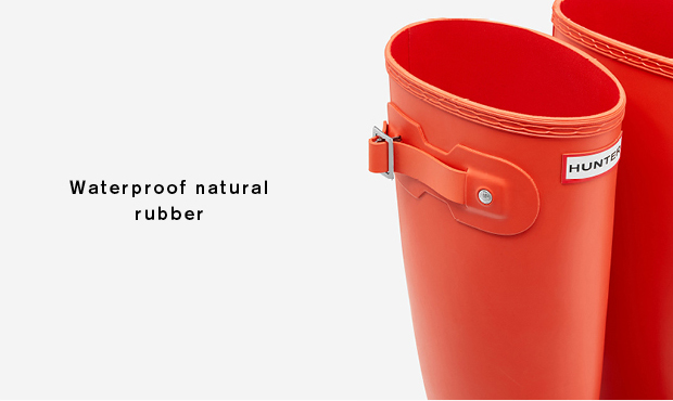 Naturally waterproof rubber