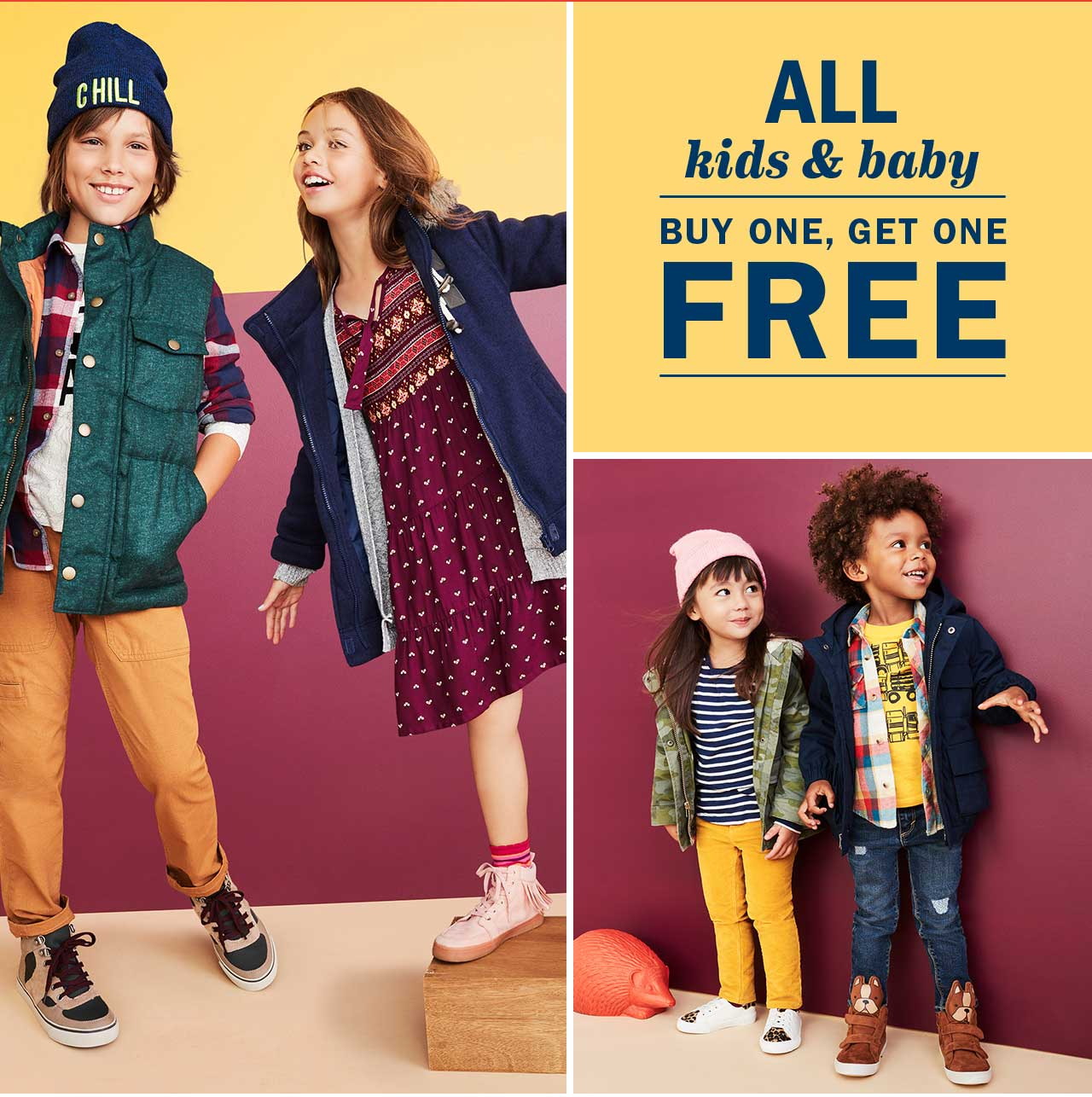 ALL kids & baby | BUY ONE, GET ONE FREE