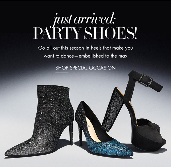 Just Arrived: Party Shoes! Shop Now.