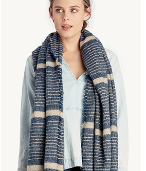 Shop Stripe Blanket Scarf