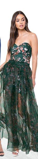 ORGANZA MAXI SKIRT DRESS
