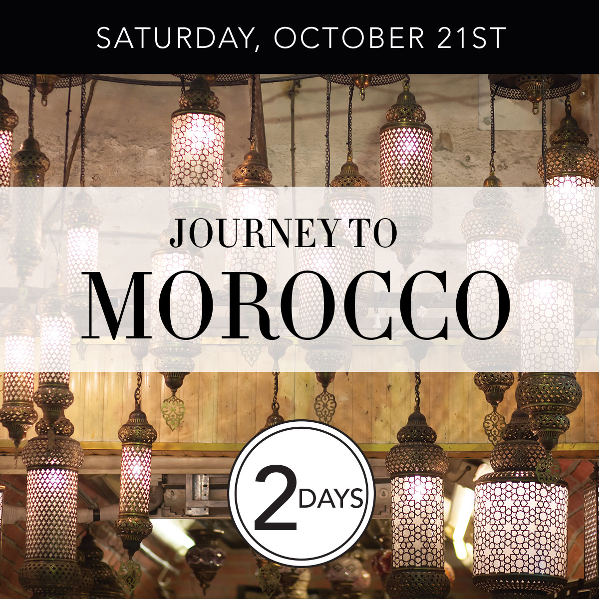 Saturday, October Twenty First - Journey to Morocco - Two Days