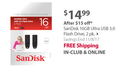 SanDisk 16GB Ultra USB 3.0 Flash Drive
