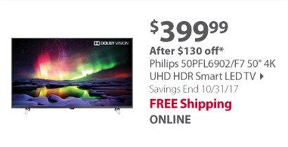 Philips 50PFL6902/F7 50 4K UHD HDR Smart LED TV