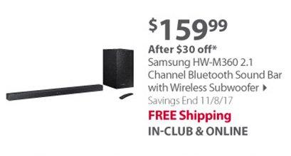 Samsung HW-M360 2.1 Channel Bluetooth Sound Bar with Wireless Subwoofer