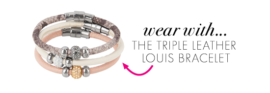 Wear with...The Triple Leather Louis Bracelet