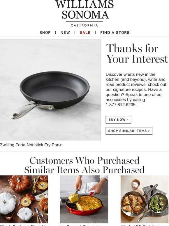Williams Sonoma Thanks For Your Interest In Zwilling