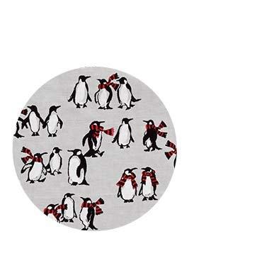 Playful Penguins Gray
