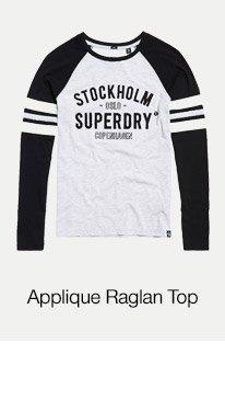 Applique Football Raglan Top