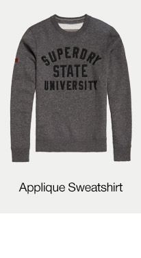 Applique Crew Neck Sweatshirt