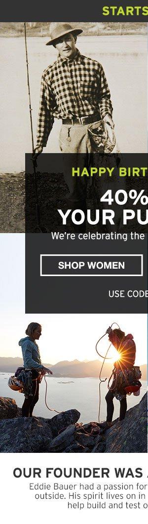 EDDIE'S BIRTHDAY 40% OFF PURCHASE | SHOP WOMEN