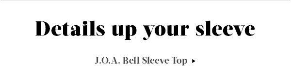 Shop J.O.A. Bell Sleeve Top