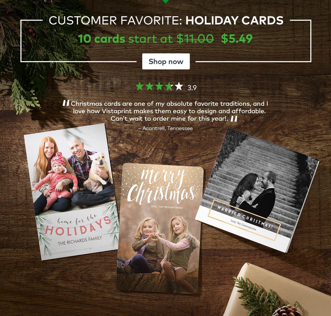 Vistaprint: Save on Customer Favorites | holiday cards, custom gifts ...