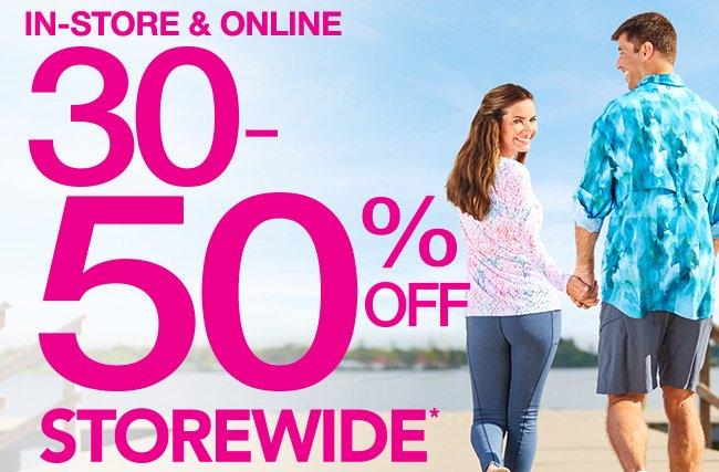In-Store & Online | 30-50% Off Storewide*
