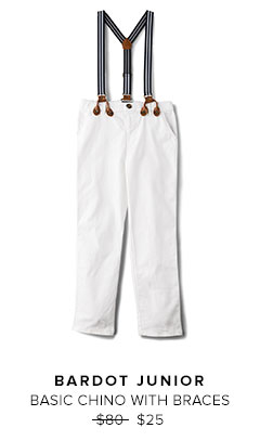 BARDOT JUNIOR - BASIC CHINO WITH BRACES