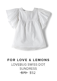 FOR LOVE & LEMONS - LOVEBUG SWISS DOT SUNDRESS
