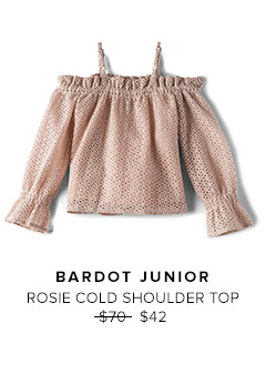 BARDOT JUNIOR - ROSIE COLD SHOULDER TOP