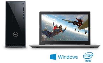 Laptops Desktops with intel inside