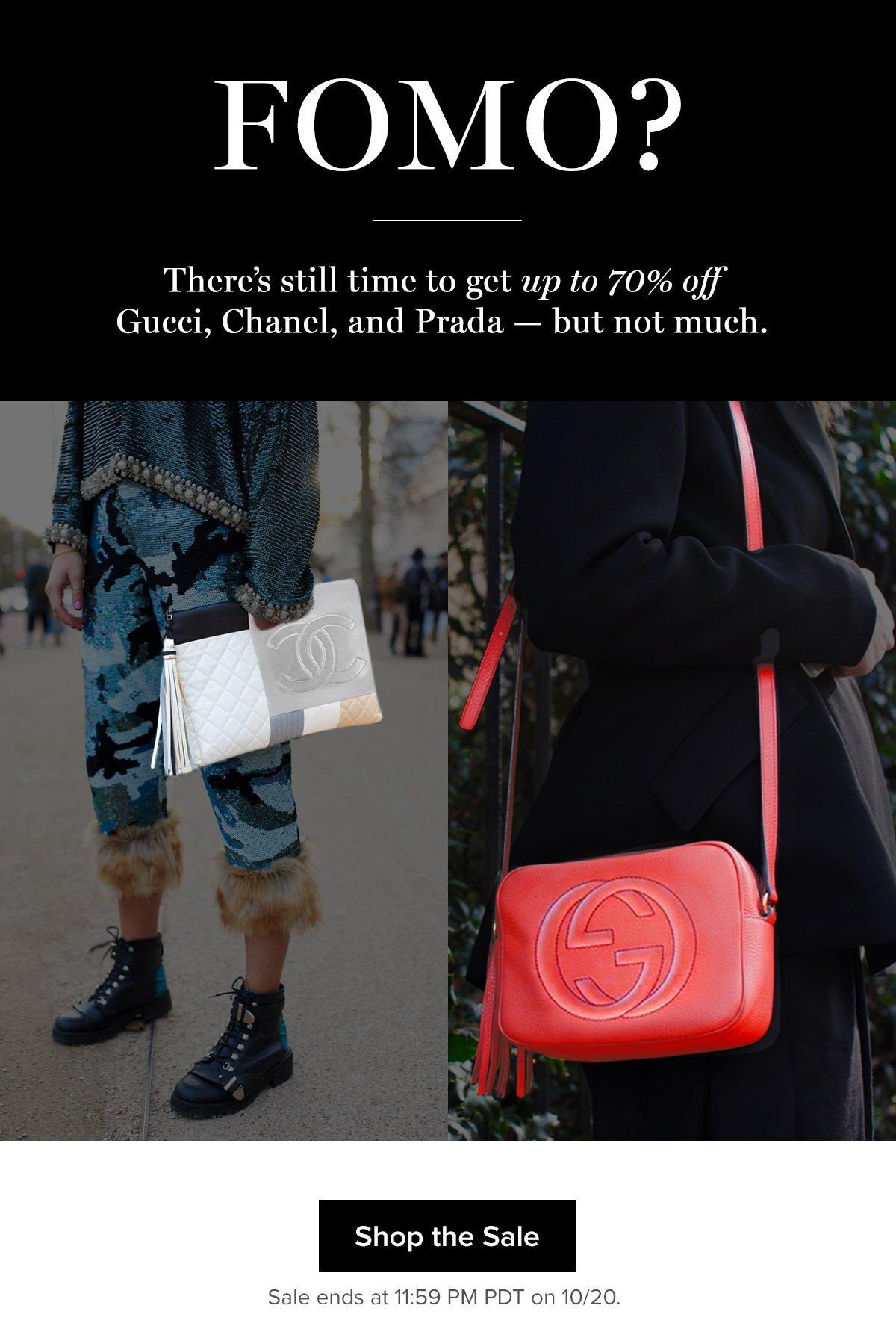 ae1ee7e3a7a4 Tradesy  Last Call  Chanel x Gucci x Prada Sale