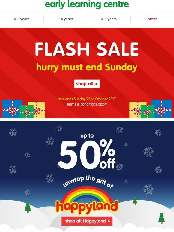 Mothercare Uk Early Learning Centre Flash Sale Up To 50 Off