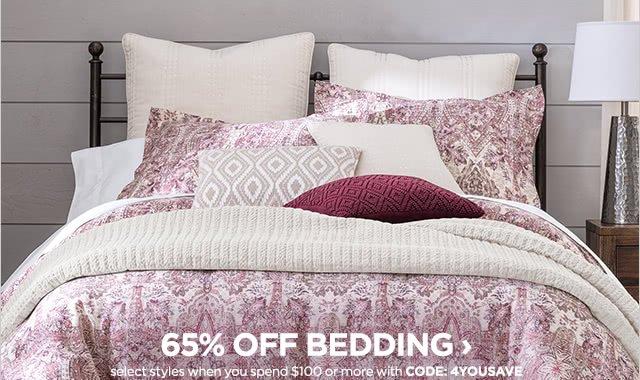 65% off bedding