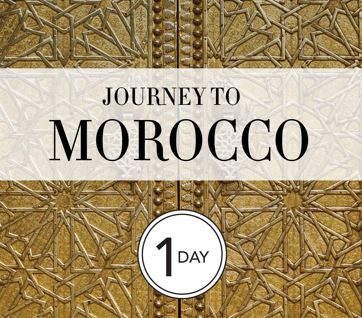 Saturday, October Twenty First - Journey to Morocco - 1 Day