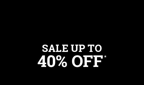 Sale up to 40% off*